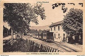 Carte postale ancienne RUFFIEU EN VALROMAY : la gare