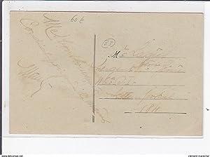 Carte postale ancienne GENON : avenue carnot et terminus du tramway de magenta