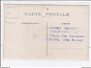 Carte postale ancienne VESOUL : judaïsa, bloch, boucherie charcuterie, E.Moreau, successeur