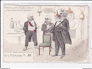 Carte postale ancienne Illustrateur Politique : LA FLECHE - la grève de Marseille (tirée à 50 ex)