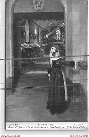Carte postale ancienne salon de 1909 avant