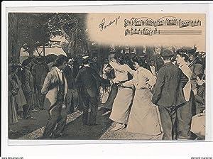 Carte postale ancienne PYRENEES-ATLANTIQUES : danseurs fandango