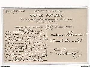 Carte postale ancienne PONTARLIER : militaire