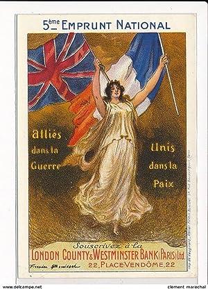 Carte postale ancienne PUBLICITE : 5eme emprunt