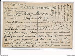 Carte postale ancienne RHONE : magasin tabacs cartes postales journaux