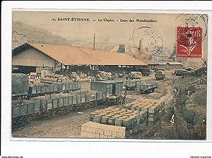 Carte postale ancienne SAINT-ETIENNE : le clapier, gare des marchandises