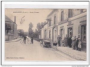 Carte postale ancienne MONTLOUET : route d'auneau