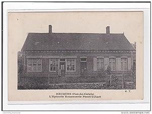 Carte postale ancienne RECQUES : l'epicerie rouennerie penet-tétart