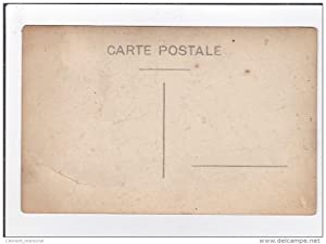 Carte postale ancienne AGRICULTURE : carte photo d une batteuse vers 1910