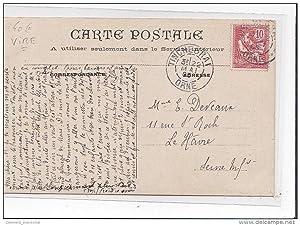 Carte postale ancienne VIRE : jacotte, centenaire et d'laide sa file, marchandes des ...