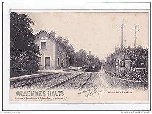 Carte postale ancienne VILLENNES : la gare