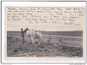 Carte postale ancienne MANDRES : le labour