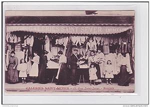 Carte postale ancienne ROUEN : galerie Saint Sever (magasin)
