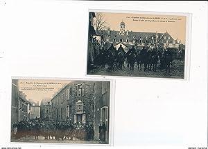 Carte postale ancienne SAINT MEEN - Lot de 8 CPA - Séminaire de SAINT MEEN - INVENTAIRES 1907