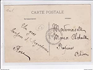 Carte postale ancienne AIGUEPERSE : hotel du Midi - maison Charnay
