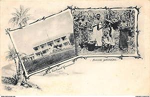 Carte postale ancienne GABON : hotel du lieutenant gouverneur, femmes gabonaises