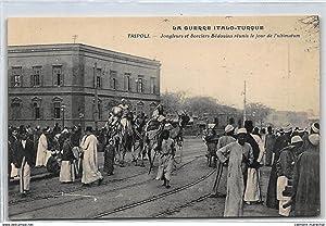 Carte postale ancienne LIBYE : tripoli jongleurs et sorciers bedouins reunis le jour de l'...