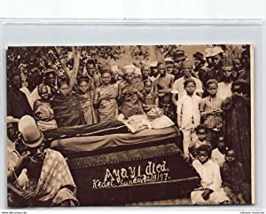 Carte postale ancienne NIGERIA : ayayi died kedsi sunday 12/9/1919