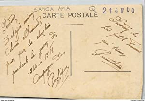 Carte postale ancienne SAMOA : groupe de personne