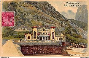 Carte postale ancienne BRESIL : restaurante pao de assucar