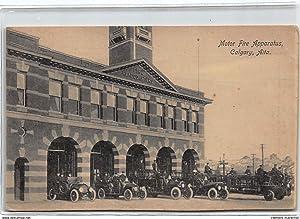 Carte postale ancienne CANADA : motor fire apparatus calgary aita