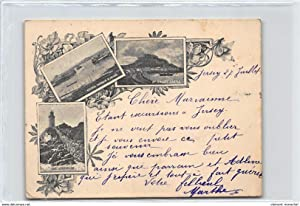 Carte postale ancienne ROYAUME-UNIS : 3 vues, the lighthouse, victoria harbour st-heliers, mt ...