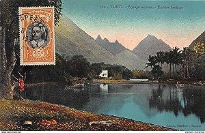 Carte postale ancienne TAHITI : paysage tahitien