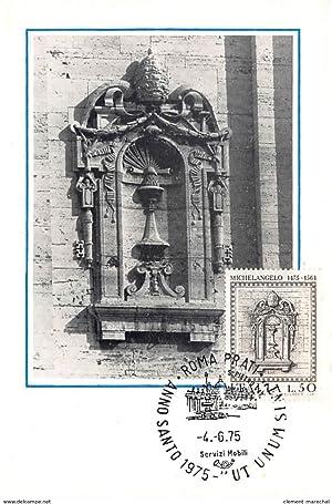Carte postale ancienne CARTE MAXIMUM : michelangelo