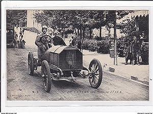 Carte postale ancienne AUTOMOBILE DE COURSE : de caters sur voitures italia