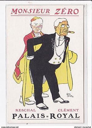 Carte postale ancienne PUBLICITE : Théatre du Palais Royal : Monsieur Zero illustré par BUS BOFA