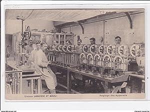 Carte postale ancienne SAINT-AUBIN-le-CAUF : usines lamaziere et bunzli, reglage des appareils