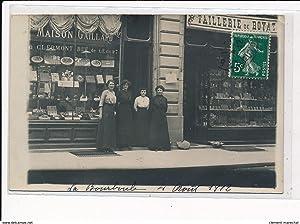 Carte postale ancienne LA BOURBOULE : maison gaillard, taillerie de royat