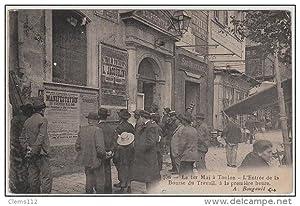 Carte postale ancienne TOULON : le 1er Mai 1908 - l'entrée de la Bourse du travail