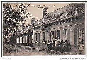 Carte postale ancienne LE HOURDEL : PAR CAYEUX - café du Port