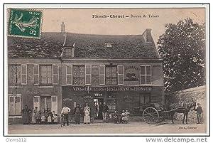Carte postale ancienne PLESSIS-CHENET : bureau de tabacs