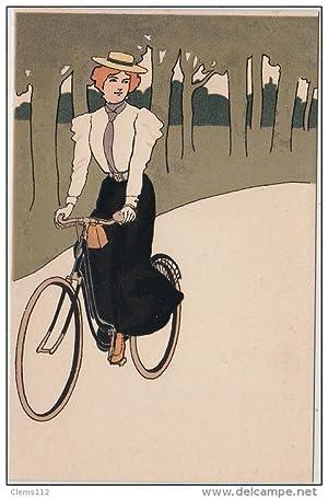 """Carte postale ancienne ANONYME : """"scènes de vie en ville"""" vers 1900"""