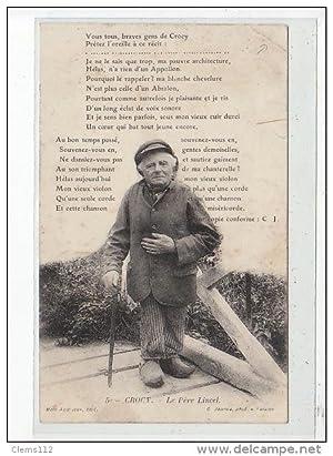 Carte postale ancienne CROCY - Le Père Lincel