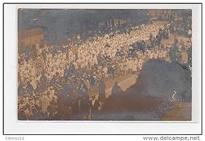 Carte postale ancienne CAEN : carte photo d'une fête