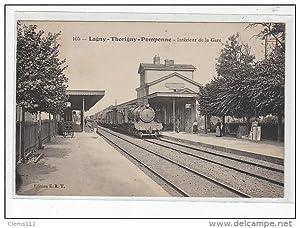 Carte postale ancienne LAGNY-THORIGNY-POMPONNE - Intérieur de la gare