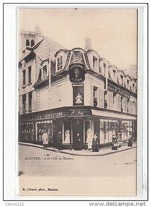 """Carte postale ancienne MANTES - """"A la Ville de Mantes"""" Magasin de Nouveautés"""