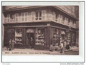 Carte postale ancienne CLAMECY - Grand bazar de l'Industrie