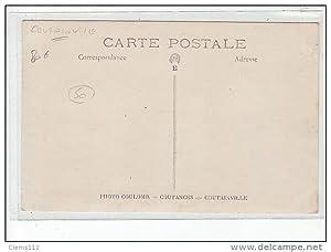 Carte postale ancienne COUTAINVILLE - CARTE PHOTO - Sortie de l'église