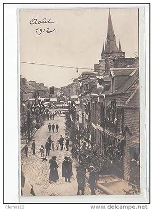 Carte postale ancienne VASSY - CARTE PHOTO - Fête 1912