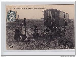 Carte postale ancienne TOURS (série des métiers de Tours n° 405) : les vanniers ambulants