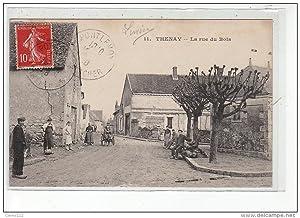 Carte postale ancienne THENAY - La Rue du Bois - Voiture à chiens