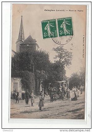 Carte postale ancienne GALAPIAN - Place de l'Eglise