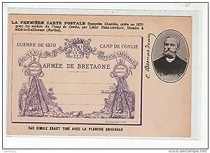 Carte postale ancienne CONLIE - Souvenir du Camp de Conlié Guerre de 1870 - Léon Besnardeau, ...