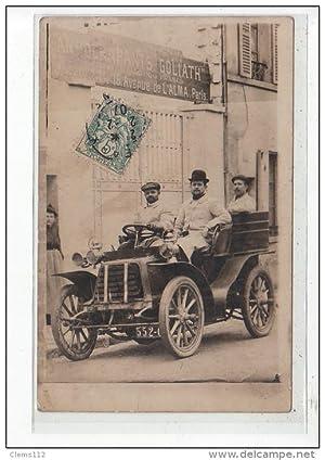 Carte postale ancienne MEAUX - CARTE PHOTO - Hommes dans une automobile