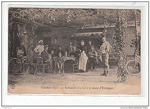 Carte postale ancienne VIDAUBAN - Le restaurant Bouchet à la Source d'Entraigues