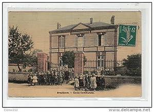 Carte postale ancienne BREUILPONT : ecole communale